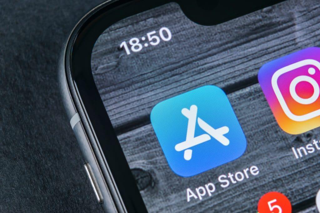 Logo da App Store, loja de aplicativos da Apple