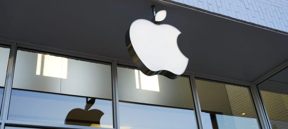 Facade of an Apple Store