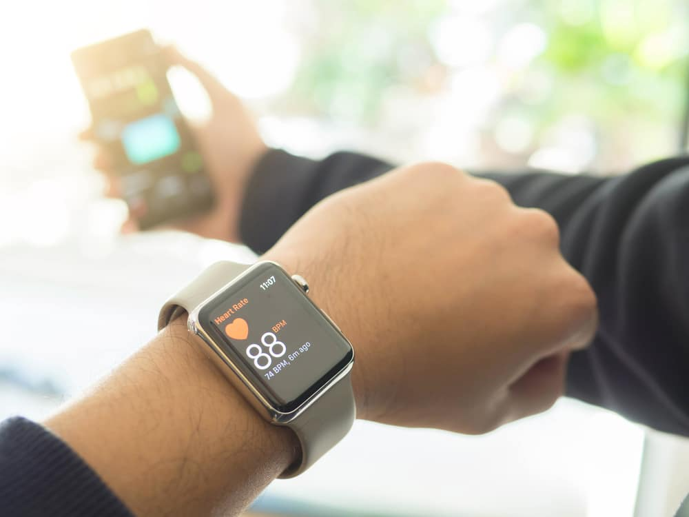 Smart Watch recording a user's heart rate