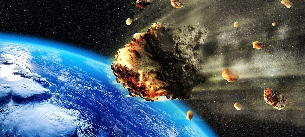Ilustração de asteroide
