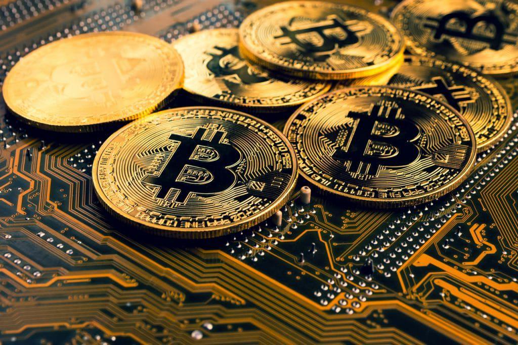 Ilustração de bitcoins