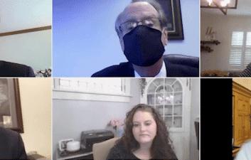 Zoom en movimiento: senador de EE. UU. Visto en videoconferencia mientras conduce