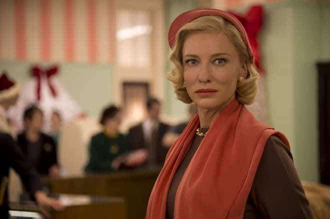 Cate Blanchett em Carol, produção de Todd Haynes
