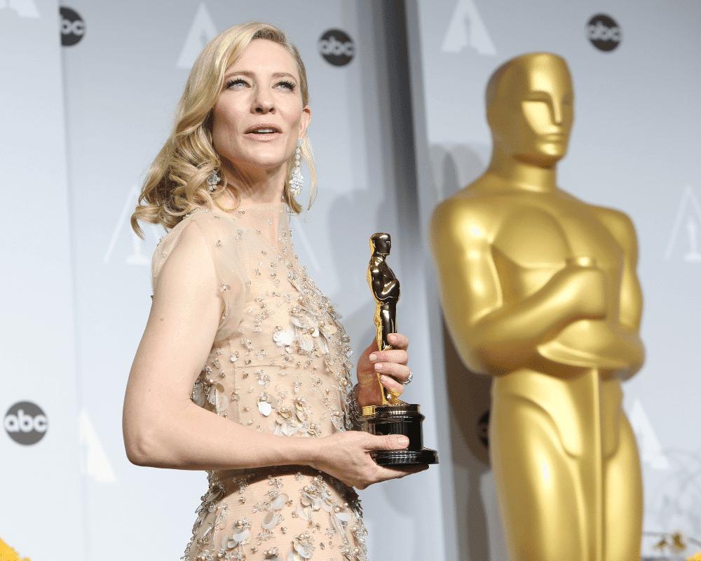 Cate Blanchett na edição do Oscar de 2014