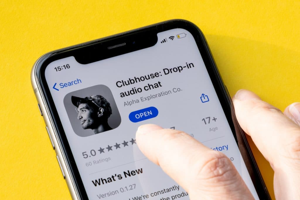 Clubhouse na App Store