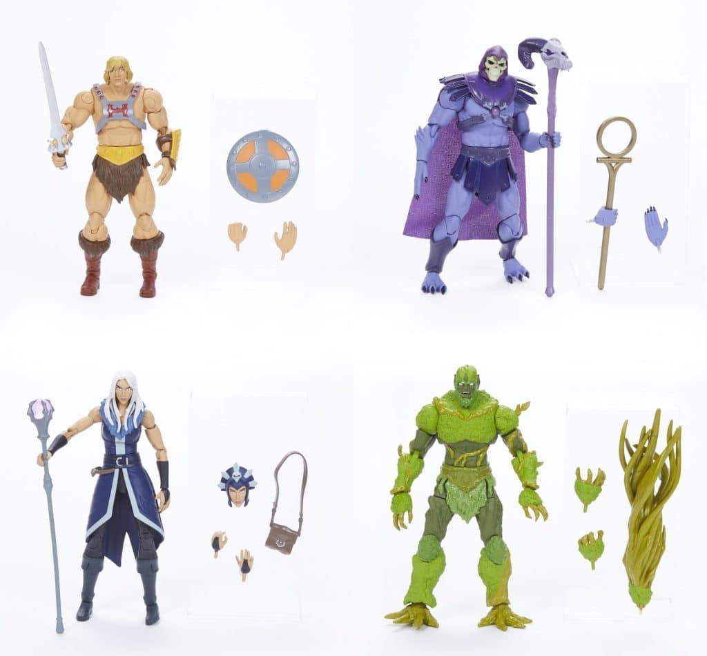 He-Man, Esqueleto, Maligna e Moss Man