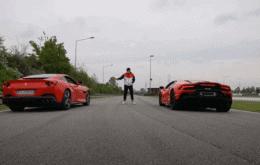 Veja a potência de um Tesla Model 3 ao competir contra uma Ferrari e um Lamborghini