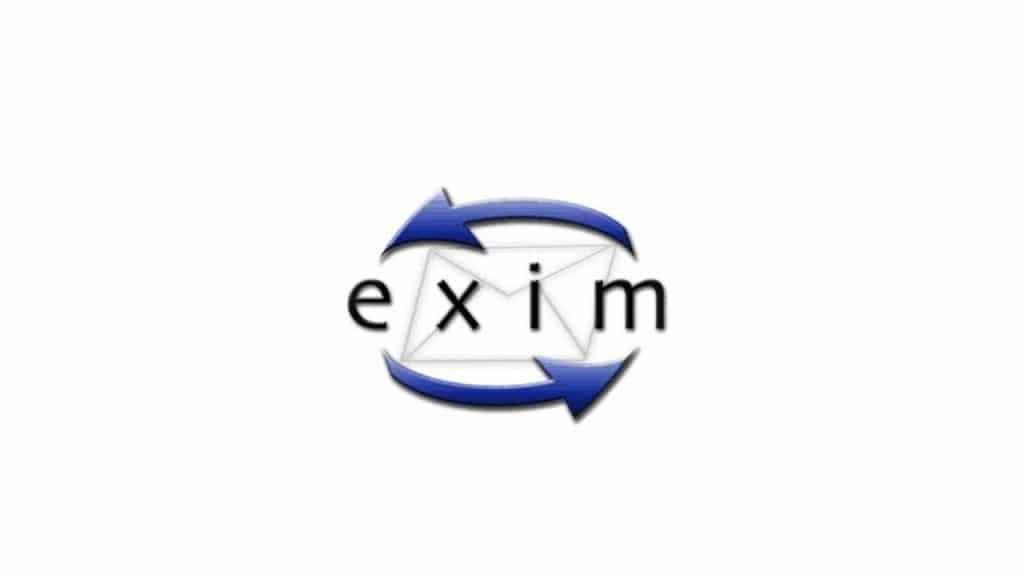 Imagem mostra a logomarca do servidor de emails Exim, o mais utilizado no mundo, e que recentemente foi implicado em 21 falhas graves de segurança