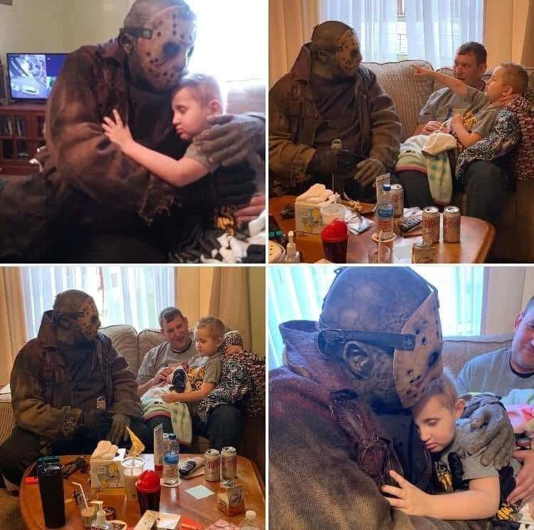 Photos taken by Jason Vonhess cosplayer while visiting the 5 year old hospital fan. Image: Instagram / Reproduction