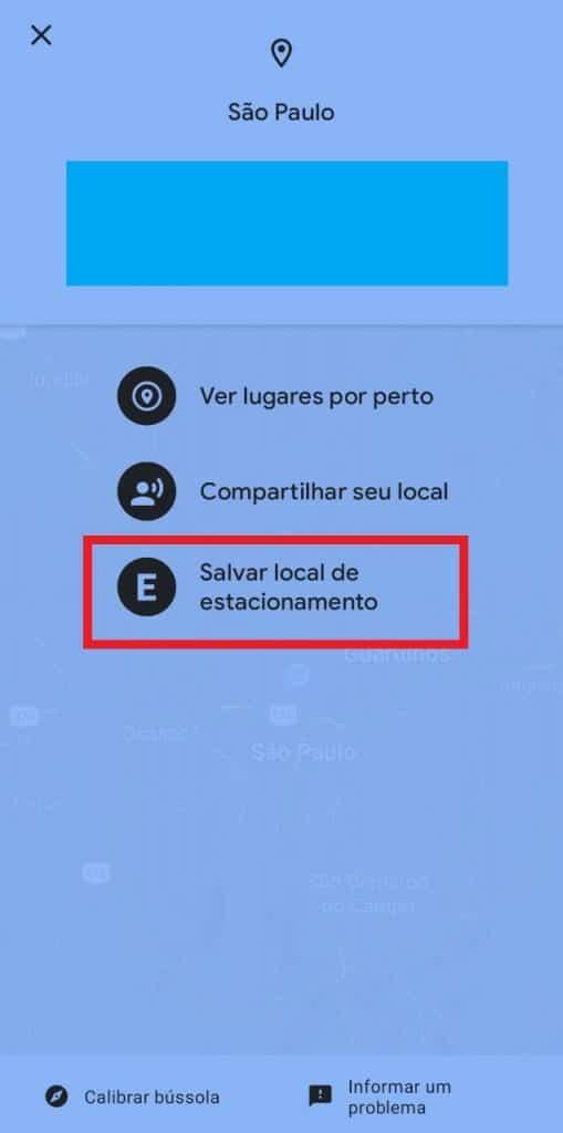 Print do aplicativo do Google Maps