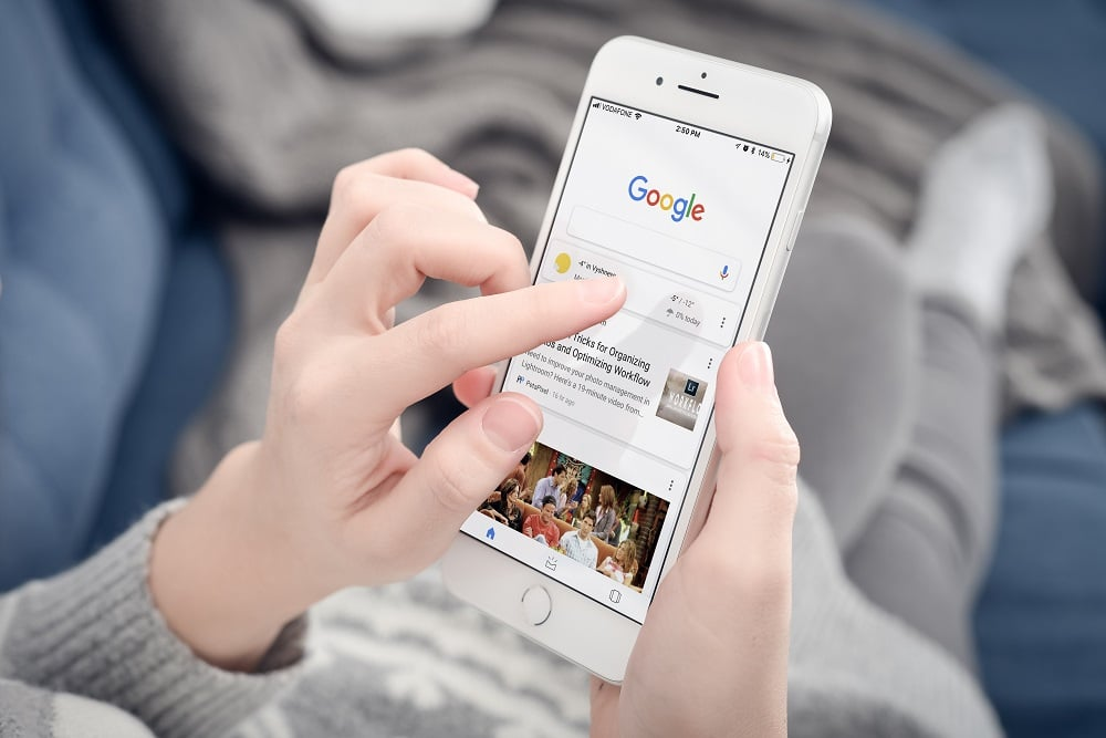 Google. Imagem: Shutterstock