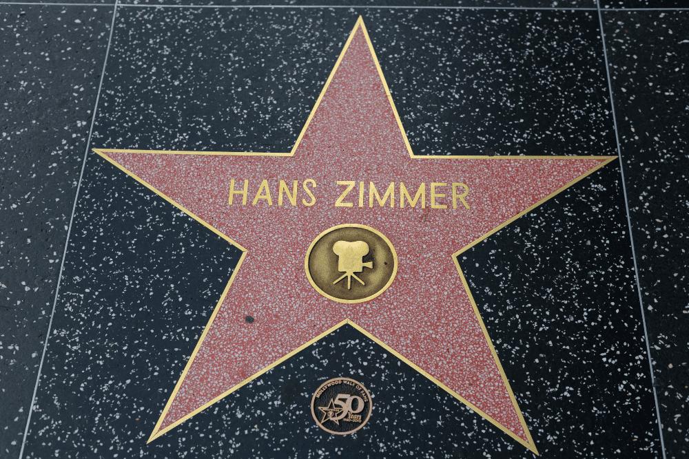Estrela de Hans Zimmer na Calçada da Fama, em Hollywood