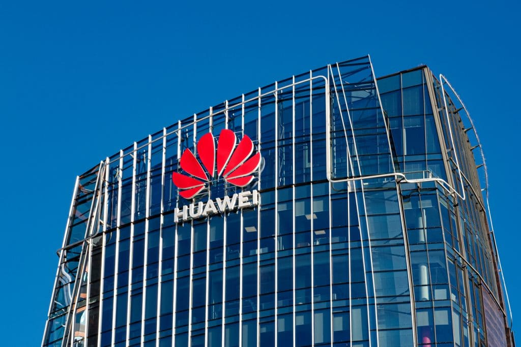 Huawei company facade