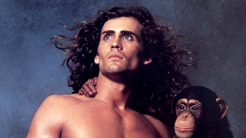 Joe Lara foi o ator de 'Tarzan' no filme lançado em 1989. Imagem: CBS/Reprodução