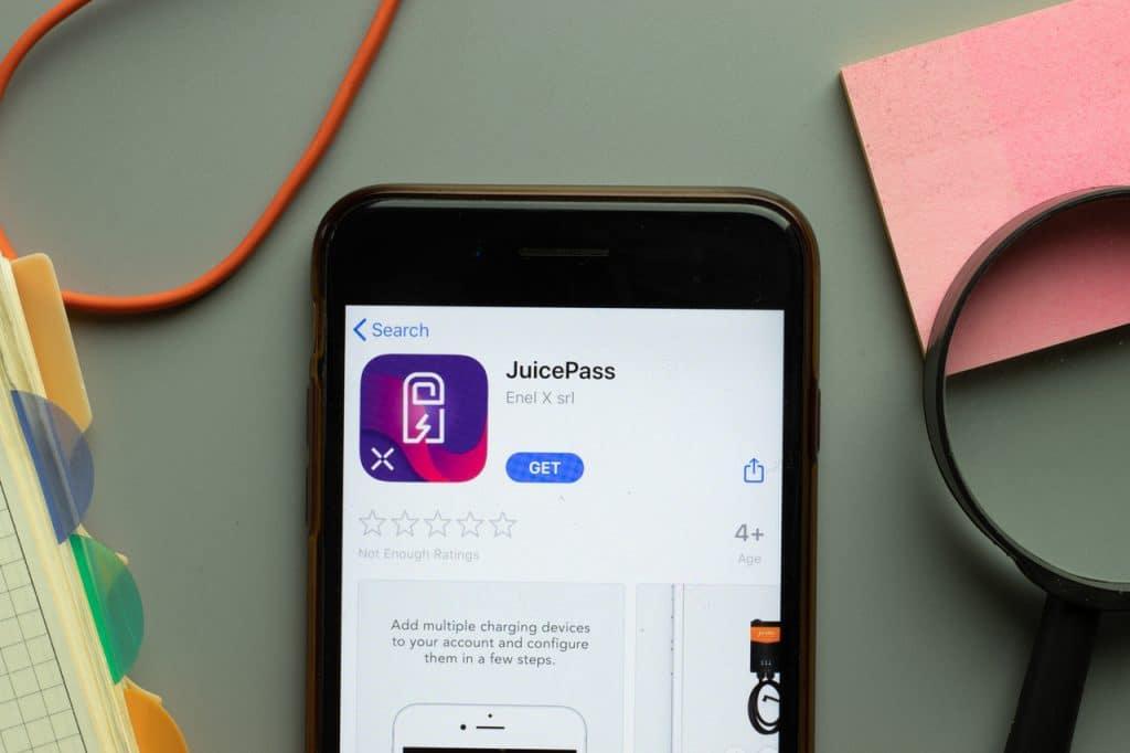 App JuicePass na loja de aplicativos da Apple