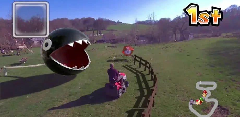 Mario Kart real é possível, caso tenha um drone e habilidades com CGI. Imagem: Ian Padgham/Reprodução