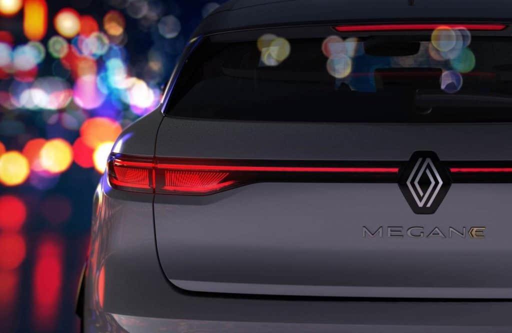 Renault Megane elétrico tem detalhes revelados em fotos oficiais. Imagem: Renault/Divulgação