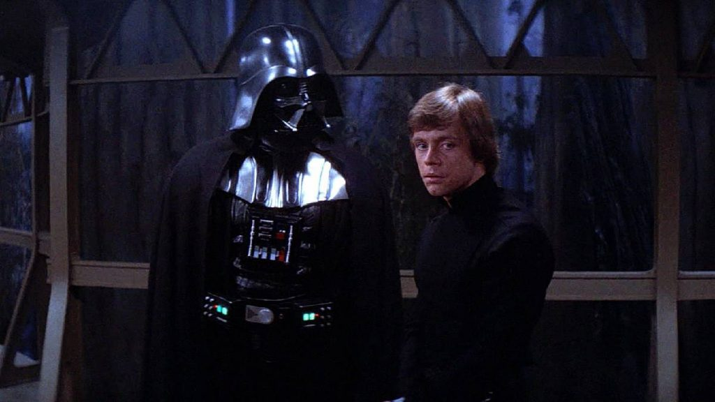 Darth Vader y Luke Skywalker en 'Star Wars Episodio VI: El Retorno del Jedi'. Imagen: Lucasfilm / Disclosure