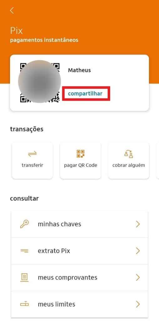 Print do aplicativo do Itaú