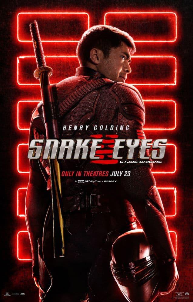 Pôster de 'Snake Eyes', Divulgação/Paramount