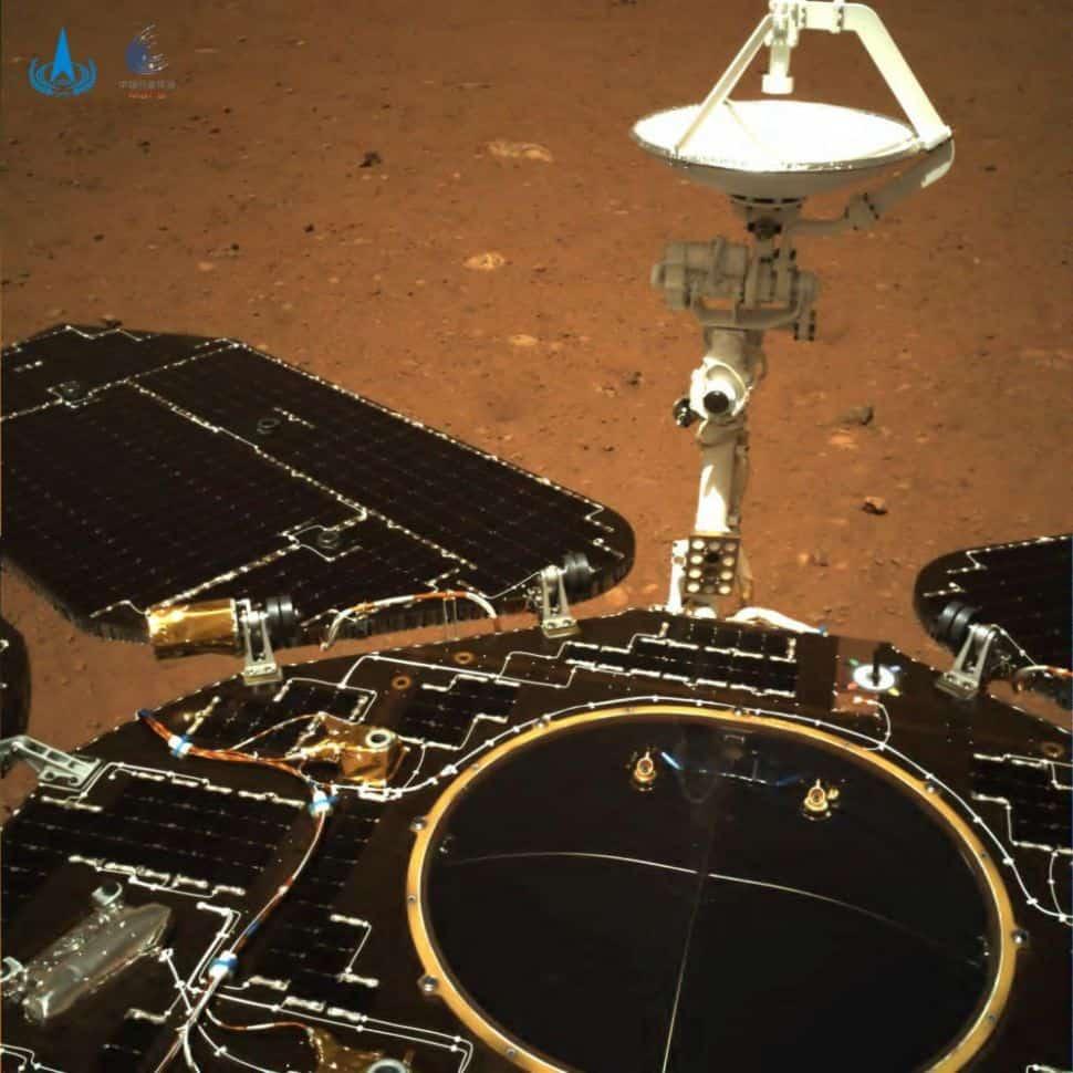 Imágenes del robot de Zhurong en la misión de exploración de Marte