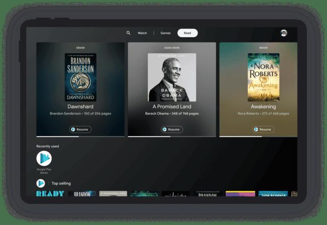 """Imagem mostra o """"Entertainment Space"""", nova interface para tablets que o Google colocará no lugar no Discover"""