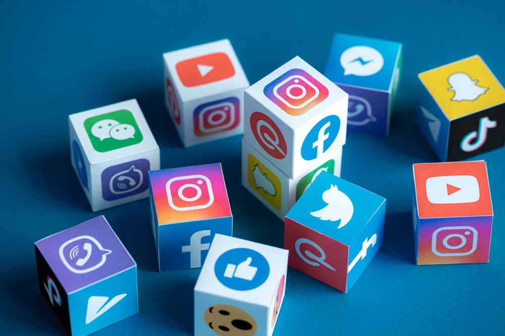 Logos de diversas redes sociais