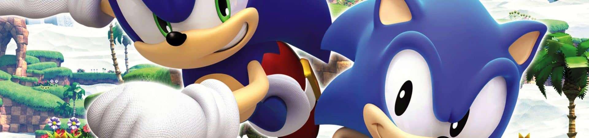 Cartaz de 'Sonic Generations' (2010). Imagem: Sega/Divulgação