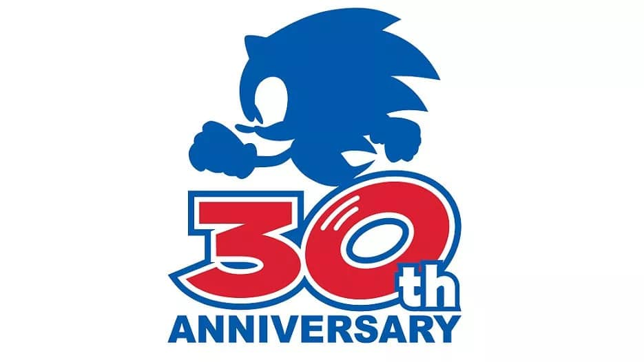 Logo do evento de 30 anos de Sonic, que promete grandes novidades. Imagem: Sega/Divulgação