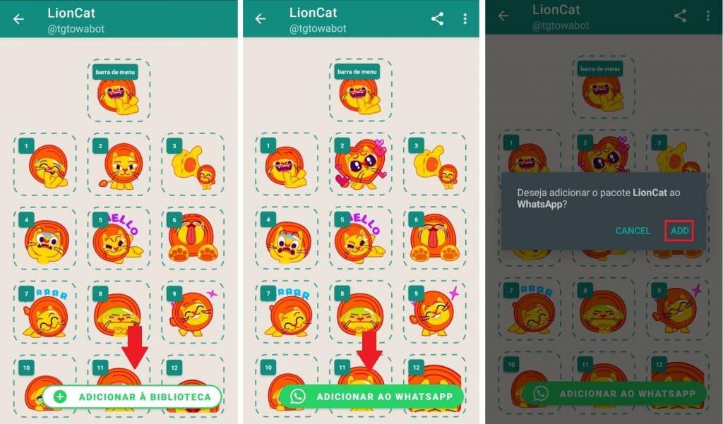 Transferindo os stickers para o WhatsApp