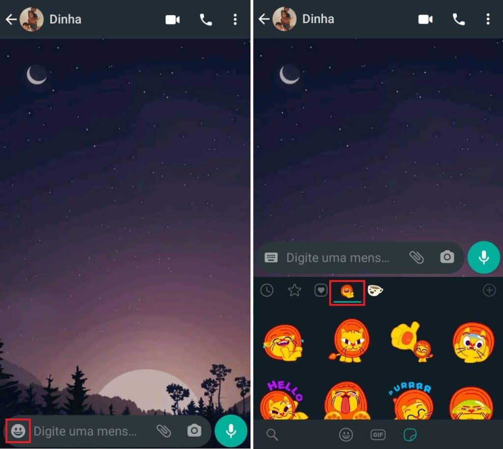 Novos stickers no WhatsApp