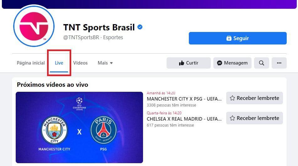 Créditos: Facebook/TNT Sports Brasil