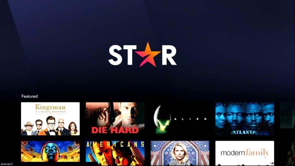 Tela inicial do Star+, novo serviço de streaming da Disney. Imagem: Reprodução