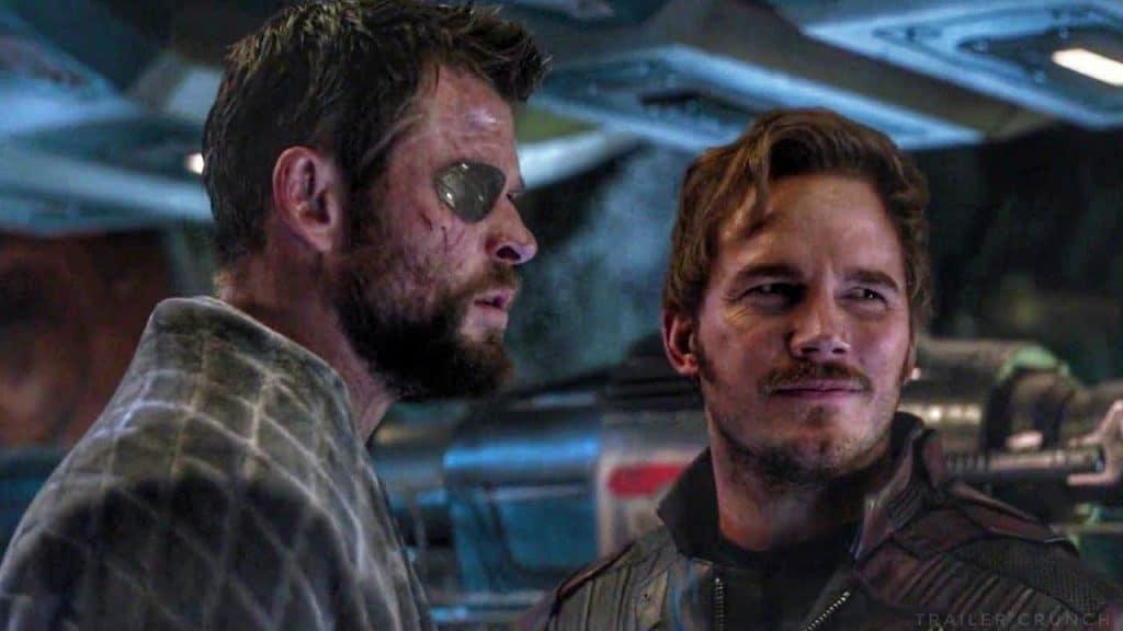 Thor conhece Peter Quill em 'Vingadores: Guerra Infinita'. Imagem: Marvel Studios/Divulgação