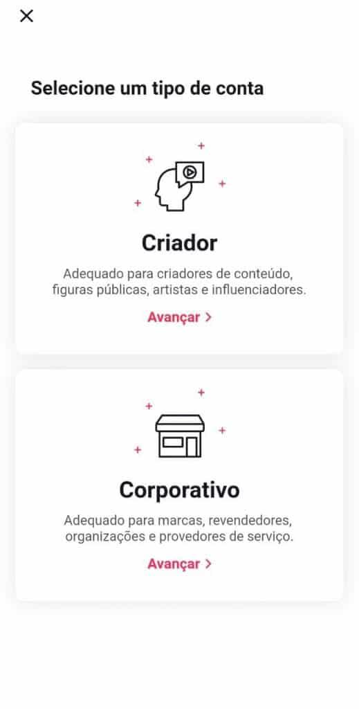Print do aplicativo do TikTok