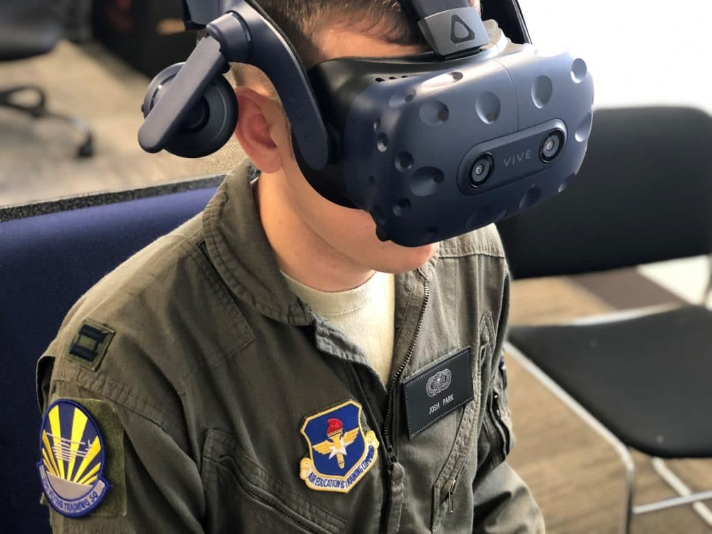 Programa de realidade virtual da Força Aérea Americana