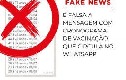 É falsa mensagem no WhatsApp que informa aceleração da vacinação contra Covid-19 em São Paulo