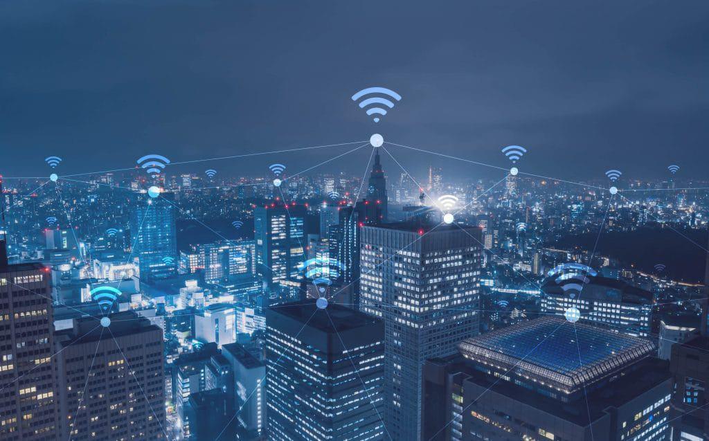 Ilustração de conectividade wireless