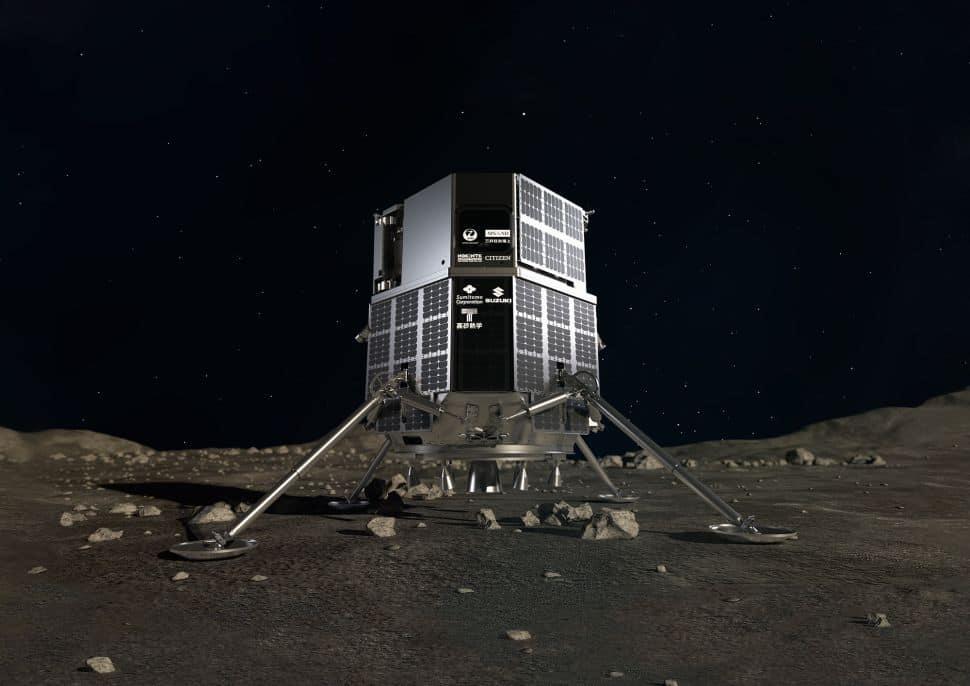 O módulo de pouso lunar HAKUTO-R, que armazenará o rover japonês em sua viagem em 2022