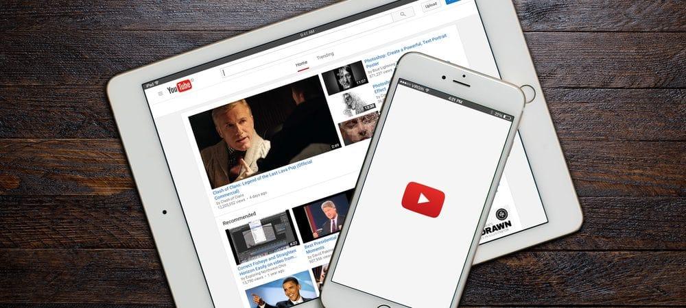 Celular e tablet com o aplicativo do YouTube aberto