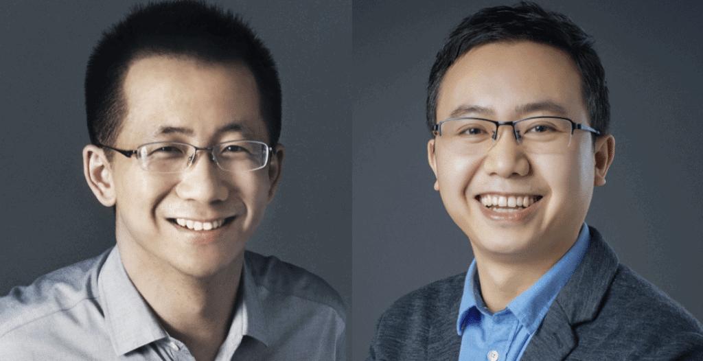 Zhang Yiming e Liang Rubo