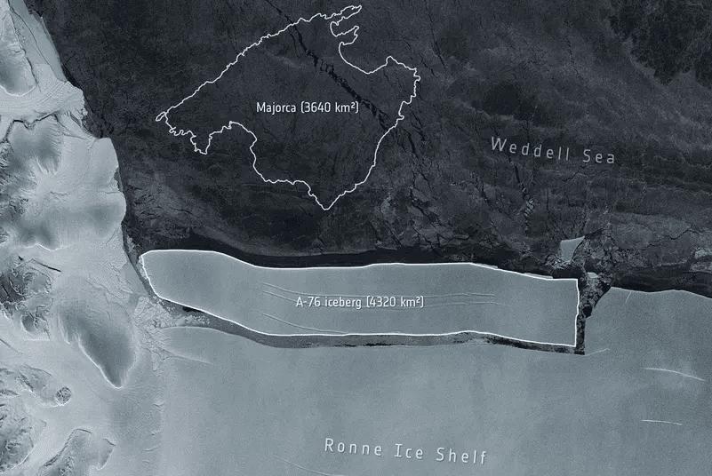 a-76 iceberg antártida