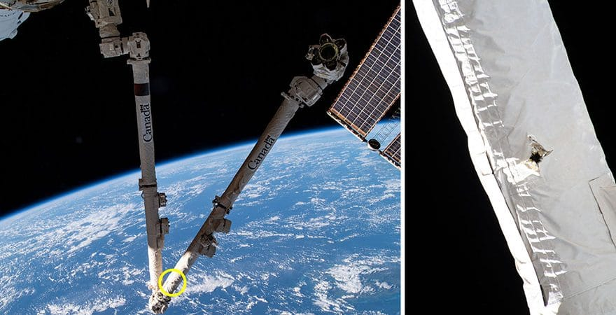 canadarm braço estação espacial