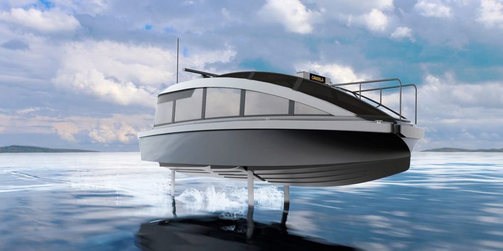 A water and electric taxi 90% cheaper than diesel models? Meet the Candela P-12. Image: Disclosure