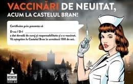 Sem medo da picada: Castelo do Conde Drácula é ponto de vacinação contra Covid-19