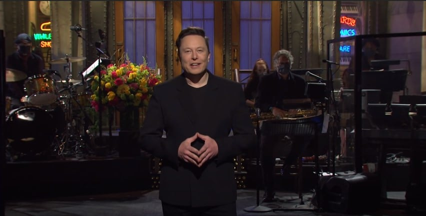 Reprodução de Elon Musnk no SNL