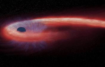 Astrónomos descubren una estrella 'espagueti' envuelta en un agujero negro