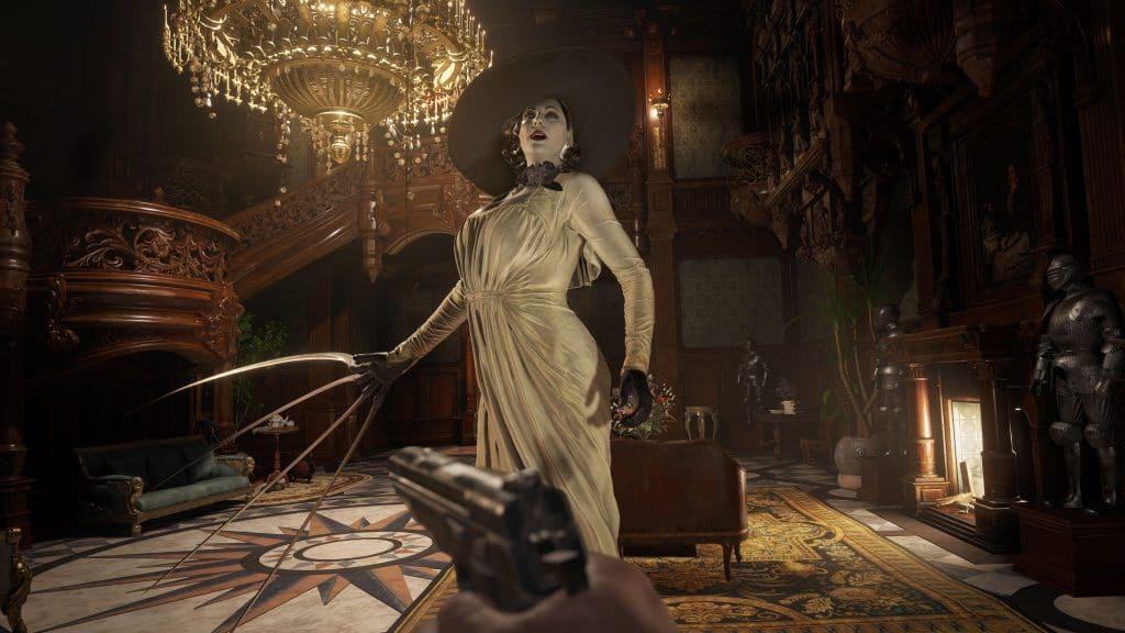 A imponente Lady Dimitrescu, de 'Resident Evil Village'. Imagem: Capcom/Divulgação