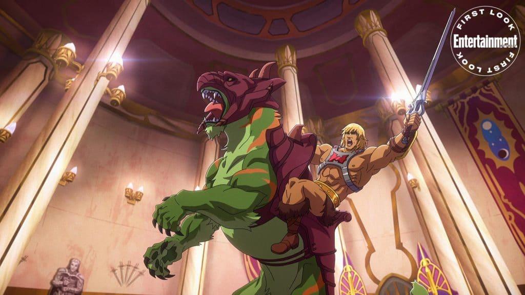 He-Man, dublado por Chris Wood, em 'Masters of the Universe: Revelation'. Imagem: Netflix/Divulgação