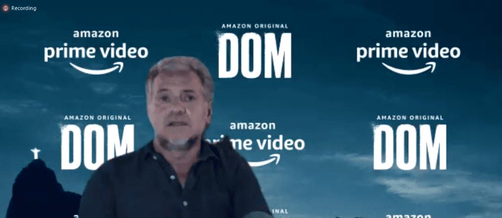 Breno Silveira, showrunner e diretor de 'Dom, em entrevista coletiva. Imagem: Reprodução